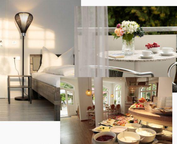 Collage_Hotelübersicht_Zimmer_Restaurant