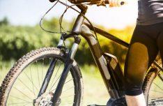 Foto vom E-Bike mit fahrer
